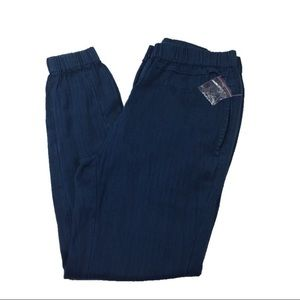 BDG Cotton Blue Dyed Jogger Pants Small Button